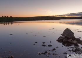 Loch near Esha Ness, mainland Shetland, Scotland