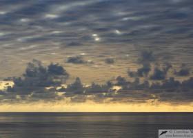Overcast skies, Atlantic Ocean, Angola.