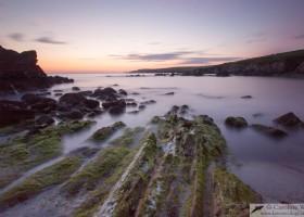 Bigton at sunset, mainland Shetland, Scotland