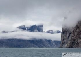 Mountains at Icy Arm, Buchan Gulf, Baffin Island. (c) Caroline Weir.